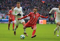 20180121, 1.BL, FC Bayern vs Werder Bremen, Allianz Arena Muenchen, Fussball, Sport, im Bild:..Franck Ribery (FCB) vorbei an Philipp Bargfrede (Bremen)...*Copyright by:  Philippe Ruiz..Postbank Muenchen.IBAN: DE91 7001 0080 0622 5428 08..Oberbrunner Strasse 2.81475 MŸnchen, .Tel: 089 745 82 22, .Mobil: 0177 29 39 408..( MAIL:  philippe_ruiz@gmx.de ) ..Homepage: www.sportpressefoto-ruiz.de. (Credit Image: © Philippe Ruiz/Xinhua via ZUMA Wire)