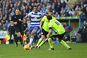 Reading's Nick Blackman leads Reading's attack during the Sky Bet Championship match between Reading and Brighton and Hove Albion at the Madejski Stadium, Reading, England on 31 October 2015. Photo by Mark Davies.