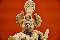 Chine, Hong Kong, Kowloon, Heritage museum de Hong Kong, guardien de tombe Lokapala, dynastie Tang (618-907) // China, Hong Kong, Kowloon, Hong Kong Heritage Museum, Lokapala tomb guardian, Tang Dynasty (618-907)