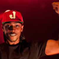 London,UK - 20 April 2013: JME performs live during the Boy Better Know gig at The Forum in London