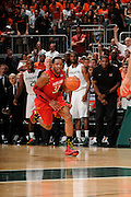 January 13, 2013: Dez Wells #32 of Maryland in action during the NCAA basketball game between the Miami Hurricanes and Maryland Terrapins at the BankUnited Center in Coral Gables, FL. The Hurricanes defeated the Terrapins 54-47.