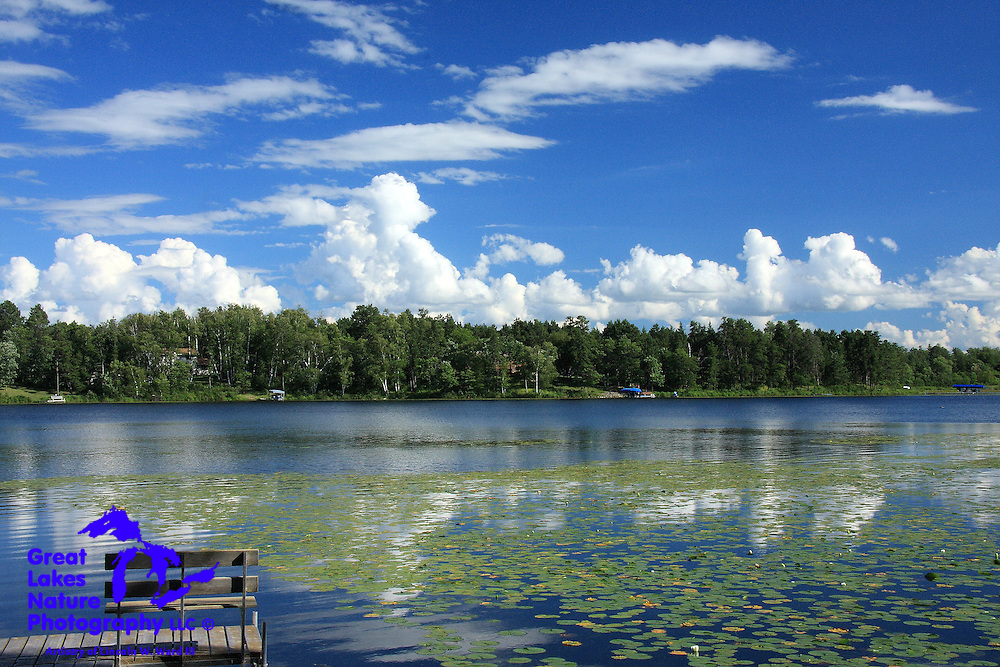 A beautiful summer day on Mud Lake near Park Rapids, Minnesota.