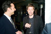 JEREMY LANGMEAD AND CHRISTOPHER BAILEY, ESQUIRE Editor Jeremy Langmead hosts a Salon/ dinner in honour of Casey Affleck. SUKA at Sanderson Hotel, 15 Berners Street, London. 28 May 2008 *** Local Caption *** -DO NOT ARCHIVE-© Copyright Photograph by Dafydd Jones. 248 Clapham Rd. London SW9 0PZ. Tel 0207 820 0771. www.dafjones.com.