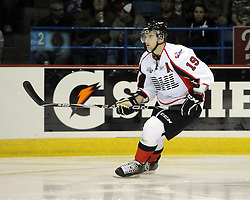 Zack Kassian helped Team OHL to a 2-1 shootout win over Russia in Game 4 of the SUBWAY Super Series in Sudbury, ON on Monday Nov. 15, 2010.  Photo by Aaron Bell/OHL Images