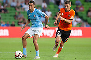MELBOURNE, VIC - JANUARY 11: Melbourne City midfielder Kearyn Baccus (15) passes the ball at the Hyundai A-League Round 13 soccer match between Melbourne City FC and Brisbane Roar FC at AAMI Park in VIC, Australia 11th January 2019. (Photo by Speed Media/Icon Sportswire)