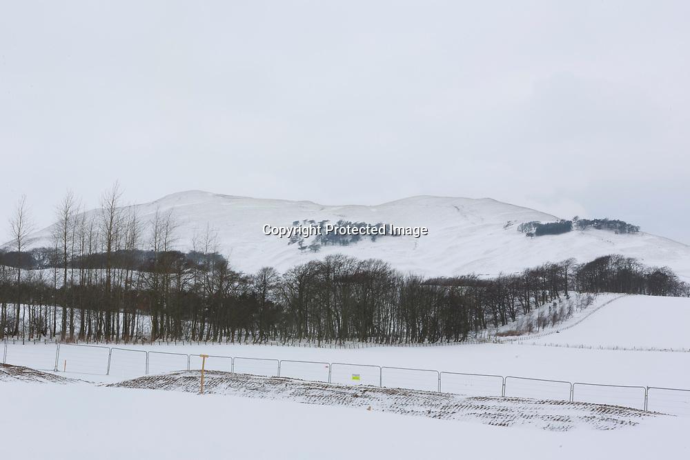 Penicuik, Scotland 3rd March 2018. General view Pentland Hills temperature are below 0 degree.                                                                                                                                 Pako Mera