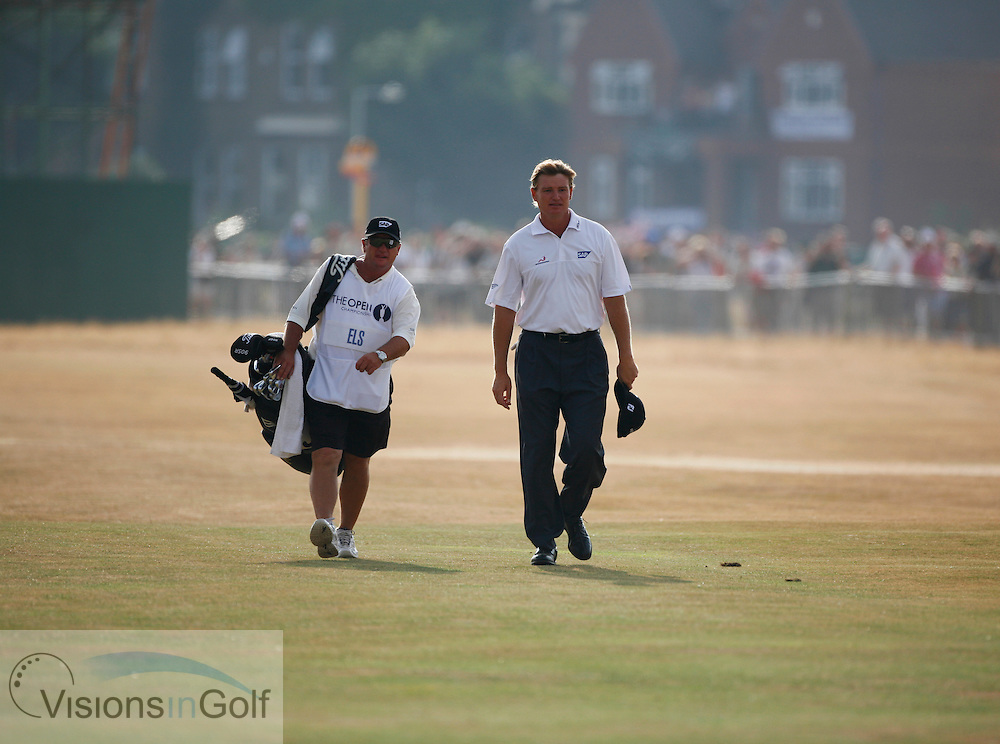Ernie Els walks up the 18th fairway during the third round on 22nd July 2006<br /> The Open Championship 2006, Royal Liverpool GC, Hoylake, England,UK.<br /> Picture Credit: Mark Newcombe / visionsingolf.com