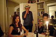 RACHEL 2; ROBERT PERENO; TIM NOBLE, Dinner at Robert and Babette Pereno's. Jermyn St. London.. 4 September 2009.
