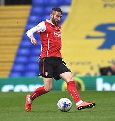 Rotherham United's Kirk Broadfoot in action during the Sky Bet Championship match between Birmingham City and Rotherham United at St Andrew's Stadium on 3 April 2015 in Birmingham, England - Photo mandatory by-line: Paul Knight/JMP - Mobile: 07966 386802 - 03/04/2015 - SPORT - Football - Birmingham - St Andrew's Stadium - Birmingham City v Rotherham United - Sky Bet Championship