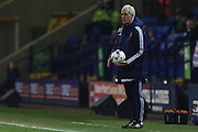 Ipswich Town manager Mick McCarthy with the ball during the Sky Bet Championship match between Bolton Wanderers and Ipswich Town at the Macron Stadium, Bolton, England on 8 March 2016. Photo by Simon Brady.