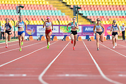 From left to right; Lucile Razet, FRA, Leilia, Adzhametova, UKR, Caroline Duarte, POR, Orla Comerford, IRE, Janne Sophie Engeleiter, GER, Alice Metais competing in the T13 100m at the Berlin 2018 World Para Athletics European Championships