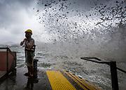 Typhoon Hato hits Hong Kong on the 23 August 2017