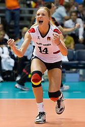 01.10.2011, Hala Pionir, Belgrad, SRB, Europameisterschaft Volleyball Frauen, Halbfinale, Deutschland (GER) vs. Italien (ITA), im Bild Margareta Kozuch (#14 GER / Sopot POL) // during the 2011 CEV European Championship, Quarterfinal at Hala Pionir, Belgrade, SRB, Germany vs Italy, 2011-10-01. EXPA Pictures © 2011, PhotoCredit: EXPA/ nph/  Kurth       ****** out of GER / CRO  / BEL ******