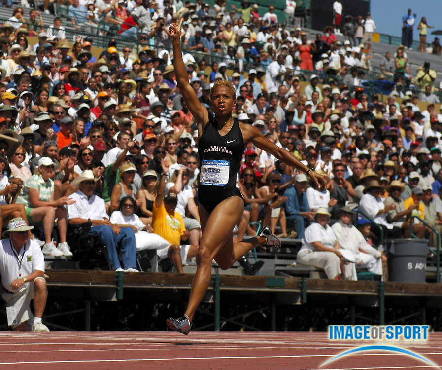 Natasha Hastings of South Carolina won the women's 400 meters in 50.15 in the NCAA Track & Field Championships at Sacramento State's Hornet Stadium in Sacramento, Calif. on Saturday, June 9, 2007.