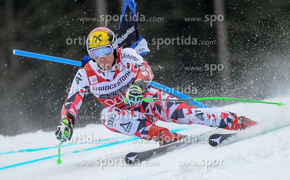 01.03.2015, Kandahar, Garmisch Partenkirchen, GER, FIS Weltcup Ski Alpin, Garmisch Partenkirchen, Riesenslalom, Herren, 1. Lauf, im Bild Marcel Hirscher (AUT) // Marcel Hirscher of Austria in action during 1st run for the men's Giant Slalom of the FIS Ski Alpine World Cup at the Kandahar in Garmisch Partenkirchen, Germany on 2015/03/01. EXPA Pictures © 2015, PhotoCredit: EXPA/ Erich Spiess