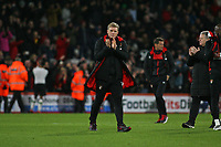 Football - 2017 / 2018 Premier League - AFC Bournemouth vs. Liverpool<br /> <br /> Bournemouth's Manager Eddie Howe applauds the home fans at the final whistle at Dean Court (Vitality Stadium) Bournemouth <br /> <br /> COLORSPORT/SHAUN BOGGUST