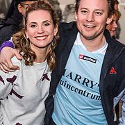 NLD/Rotterdam/20170319 - inloop De Marathon de Musical, Cas Jansen en partner Annelieke Bouwens