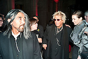 YOHJI YAMAMOTO ; ;JUSTIN DAVIES; Noomi Rapace;, Yohji Yamamoto exhibition opening. V & A Museum. London. 10 March 2011. -DO NOT ARCHIVE-© Copyright Photograph by Dafydd Jones. 248 Clapham Rd. London SW9 0PZ. Tel 0207 820 0771. www.dafjones.com.