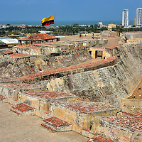Inside of Castillo San Felipe de Barajas in Cartagena, Colombia <br /> When visiting Cartagena de Indias, a must-do attraction is walking up a huge ramp to explore the Castillo San Felipe de Barajas. This fortress played such an essential role in the city's defense since it was built by the Spanish beginning in 1536. One word of caution: it is hot. The thick walls intensify Cartagena's average high temperature of 88° Fahrenheit.  The only respites are a few tunnels.  But the perspiration and admission charge are worth the historic experience.