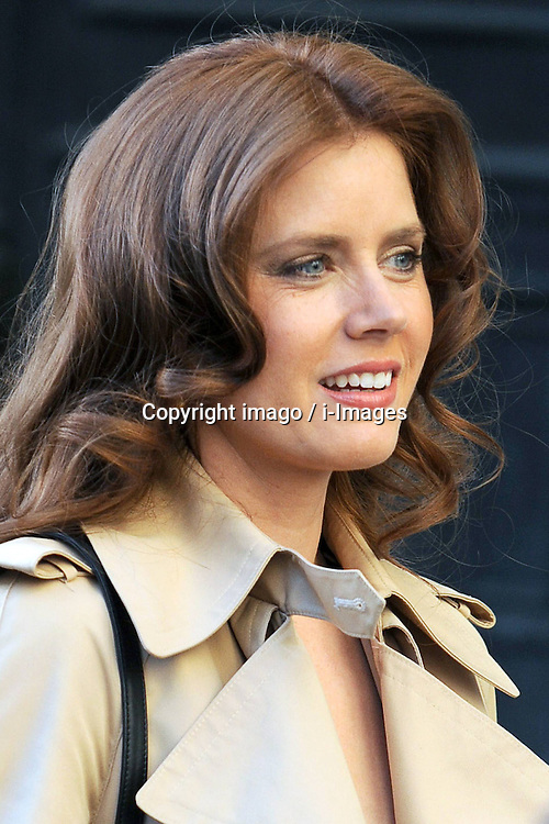 Amy Adams nominated best leading actress for the Oscars 2014.<br /> 59665153.Amy Adams on Filmset for American Hustle New York City, USA, May 17, 2013. Photo by: imago / i-Images. UK ONLY