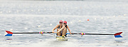 2006 FISA World Cup, Lucerne, SWITZERLAND, USA W2- Bow Megan COOK and Anna MICKELSON, 08.07.2006. Photo  Peter Spurrier/Intersport Images email images@intersport-images.com....[Mandatory Credit Peter Spurrier/Intersport Images... Rowing Course, Lake Rottsee, Lucerne, SWITZERLAND.