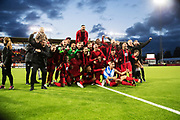 &Ouml;STERSUND, SWEDEN - AUGUST 24: Players and coaches of Oestersunds FK celebrates after the victory during the UEFA Europa League Qualifying Play-Offs round second leg match between &Ouml;stersunds FK and PAOK Saloniki at J&auml;mtkraft Arena on August 24, 2017 in &Ouml;stersund, Sweden. Foto: Nils Petter Nilsson/Ombrello<br /> ***BETALBILD***