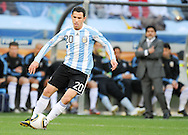 CAPE TOWN, SOUTH AFRICA- Saturday 3 July 2010, Maxi Rodriguez during the quarter final match between Argentina and Germany held at the Cape Town Stadium in Green Point during the 2010 FIFA World Cup..Photo by Roger Sedres/Image SA