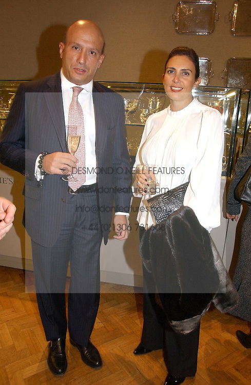 DIAMANTIS &amp; MARIA LEMOS at a private view of the forthcoming sale 'From the Collection of King George 1 of The Hellenes', held at Christie's. King Street, London on 22nd January 2007.<br /><br />NON EXCLUSIVE - WORLD RIGHTS