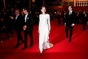 James Gray, actors Marion Cotillard and Jeremy Renner leave 'The Immigrant' Premiere during the 66th Annual Cannes Film Festival at Grand Theatre Lumiere on May 24, 2013 in Cannes, France