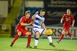 Brora Rangers Colin Williamson and Morton's Robert McHugh. Morton 1 v 1 Brora Rangers, 3rd Round of the Scottish Cup played 23/11/2019 at Cappielow, Greenock.