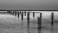 Pilings in the water