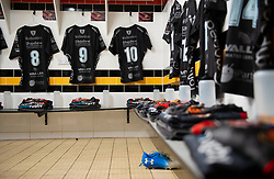 General view in the Dragons Dressing room Guinness PRO14, Rodney Parade, Newport, UK 30/11/2019<br /> Dragons vs Zebre Rugby<br /> <br /> Mandatory Credit ©JMP/Alex James