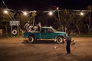 Members of the Citizen Council (inspired in the Community Police)  patrol in Santa Cruz.  Huamuxtitl·n communities, conformed more from mestizo people, started their own community police group in 2011, after living kidnappings in the town in complicity with local authorities, including ministerial police and mayoress. / Miembros del Consejo Ciudadano (inspirado en la PolicÌa Comunitaria) patrullan en Santa Cruz.  Las comunidades de  Huamuxtitl·n comenzaron su propio grupo de justicia en 2011, llamado Consejo Ciudadano e inspirado en la PolicÌa Comunitaria, despuÈs de sufrir secuestros en complicidad con autoridades locales que incluÌan a la policÌa ministerial y la alcaldesa.   (Photo: Prometeo Lucero)