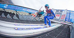 01.01.2016, Olympiaschanze, Garmisch Partenkirchen, GER, FIS Weltcup Ski Sprung, Vierschanzentournee, Probedurchgang, im Bild Denis Kornilov (RUS) // Denis Kornilov of Russian Federation during his Trial Jump for the Four Hills Tournament of FIS Ski Jumping World Cup at the Olympiaschanze, Garmisch Partenkirchen, Germany on 2016/01/01. EXPA Pictures © 2016, PhotoCredit: EXPA/ Jakob Gruber