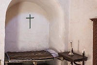 bedroom in Santa Catalina monastery in the peruvian Andes at Arequipa Peru