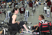 Birmingham, GREAT BRITAIN,  Adaptive classes, right  Helene RAYNSFORD, chat's with another competitor after their race, at the British Indoor Rowing Championships, [BIRC]. [Ergo Championships] National Indoor Arena. West Midlands 18/11/2007 [Mandatory Credit Peter Spurrier/Intersport Images].