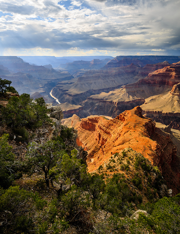 The Colorado River as viewed from Mohave Point on the South Rim of Grand Canyon National Park.