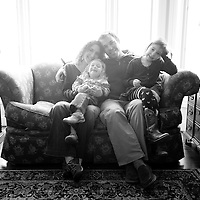 The Howell's at home, Diamond Lake, Michigan. 2012.