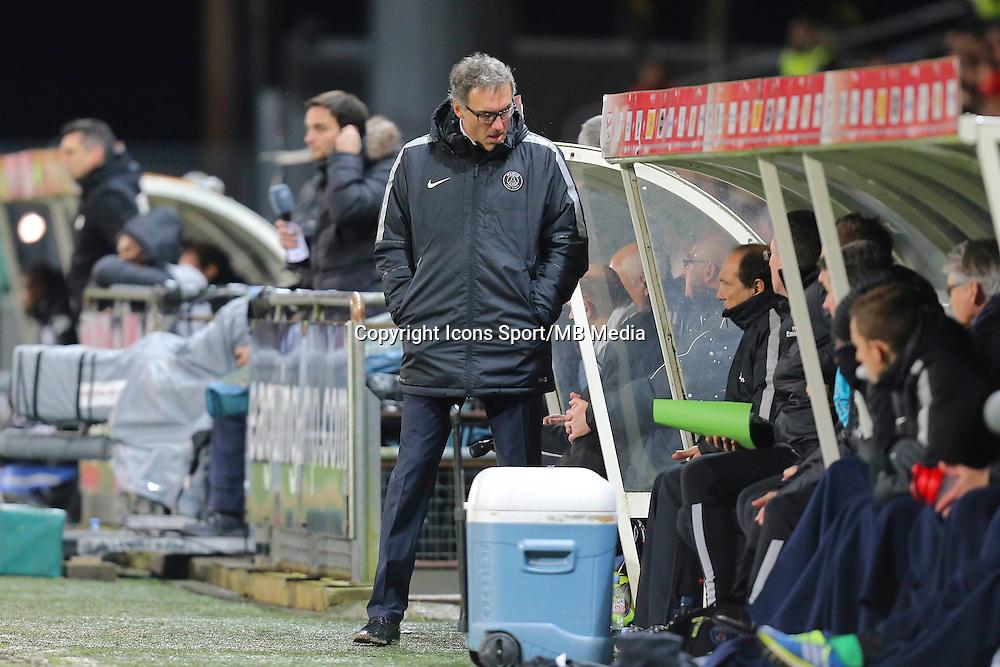 Laurent BLANC - 14.12.2014 - Guingamp / Paris Saint Germain - 18eme journee de Ligue 1<br />Photo : Vincent Michel / Icon Sport