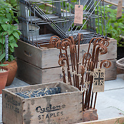 Metal Cloches and Fruit Boxes