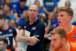 17-09-2019 NED: EC Volleyball 2019 Netherlands - Estonia, Amsterdam<br /> First round group D - Netherlands win 3-1 / Coach Roberto Piazza of Netherlands