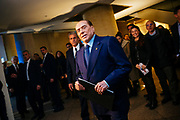 Silvio Berlusconi, attends at a political meeting organised by the centre-right coalition for the upcoming general political election in Rome, 1 March 2018. Christian Mantuano / OneShot