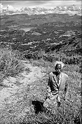 A man at his village, way above the Victoria Resovoir. near Deltota or Bowlana.