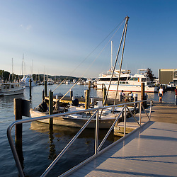 The marina in historic Essex, Connecticut.