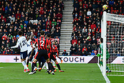 Nathan Ake (5) of AFC Bournemouth header goes overe the bar during the Premier League match between Bournemouth and Tottenham Hotspur at the Vitality Stadium, Bournemouth, England on 11 March 2018. Picture by Graham Hunt.