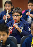 Students in music at Walnut Bend Elementary school, February 6, 2013.