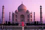 Taj Mahal<br /> South Bank of Yamuna River<br /> Agra<br /> Uttar Pradesh<br /> India<br /> UNESCO World Heritage Site