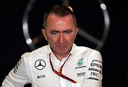 Mercedes' racing engineer and Executive Director Paddy Lowe during practice at Yas Marina Circuit, Abu Dhabi.