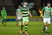 Forest Green Rovers Lewis Spurrier(37) during the EFL Trophy 3rd round match between Yeovil Town and Forest Green Rovers at Huish Park, Yeovil, England on 9 January 2018. Photo by Shane Healey.
