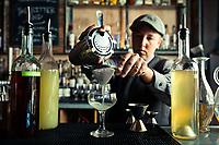 (Vegan Cocktails) Bartender Nat Harry @ Revival in Berkeley.